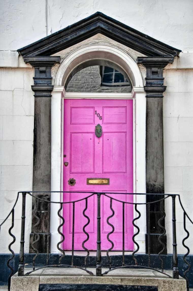 puertas de entrada-color-rosa