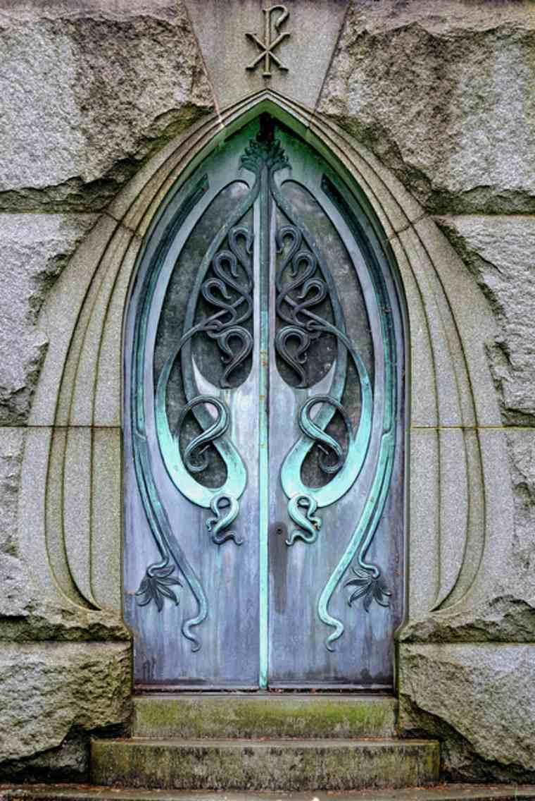 puertas de entrada de aluminio-originales