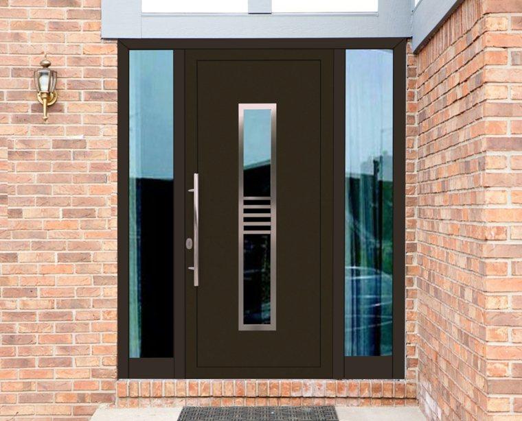 Puertas metalicas de entrada puerta para exterior lisa for Puertas metalicas entrada principal