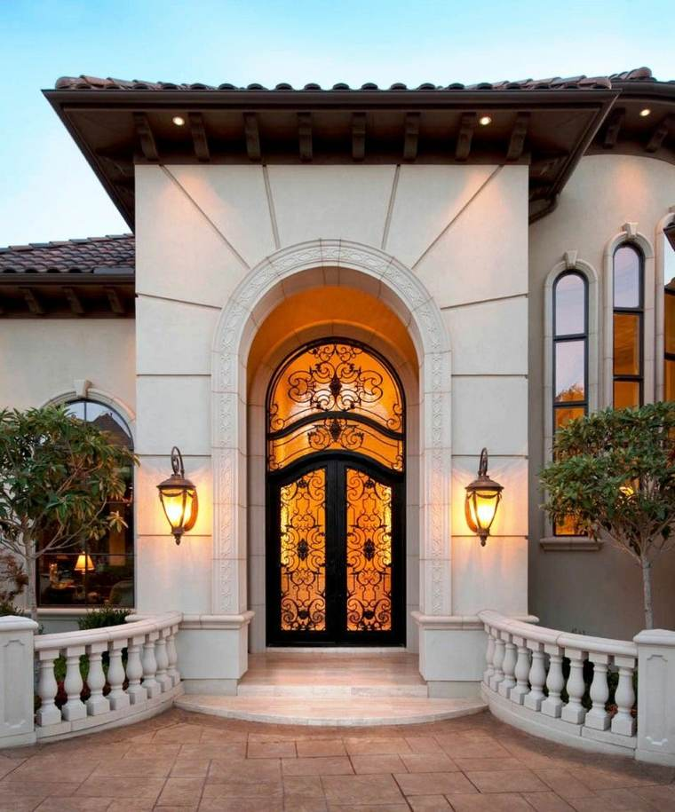 puertas entrada-exterior-metal-cristal
