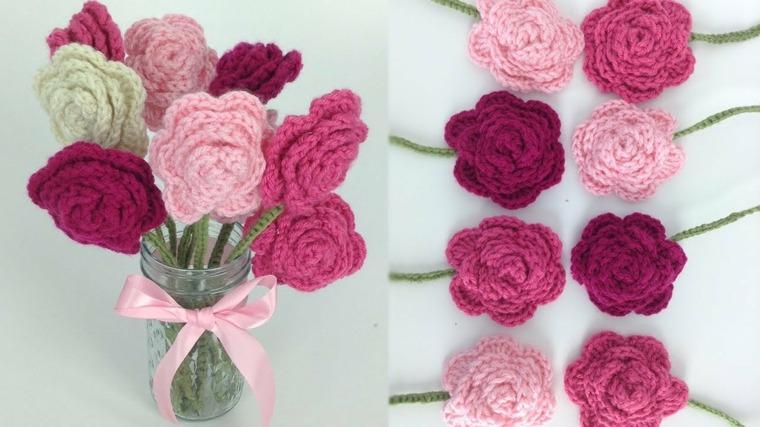 ideas para hacer Flores de crochet