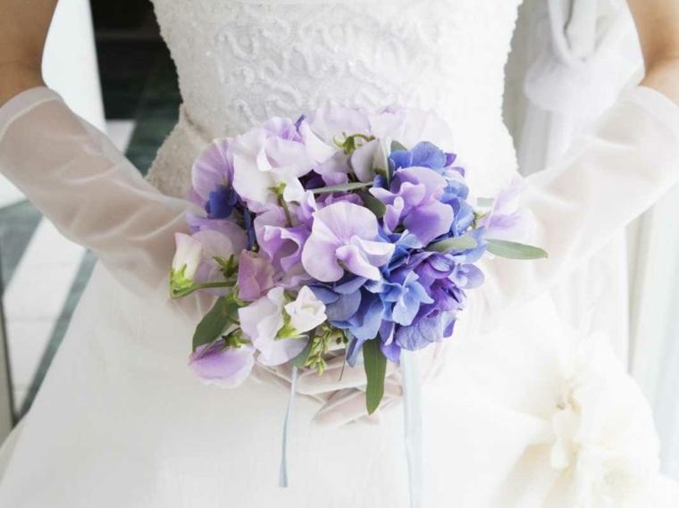 ramos de novia originales-flores-color-purpura-claro