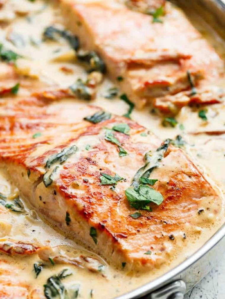 recetas de salmón con-ajo
