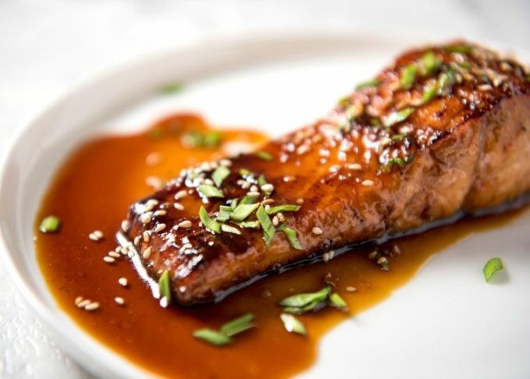 recetas de salmon con-miel