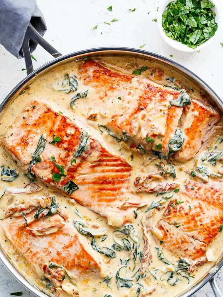 recetas de salmon con-salsa