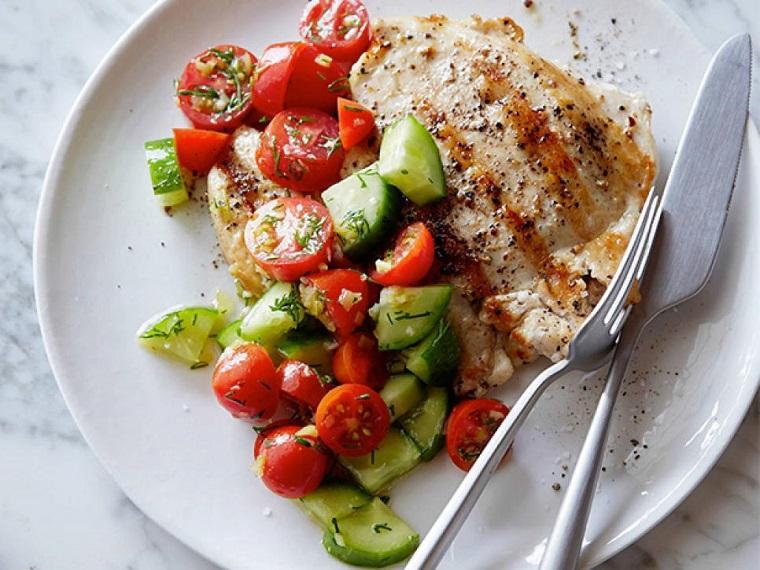 recetas fáciles y sanas-pollo-ensalada