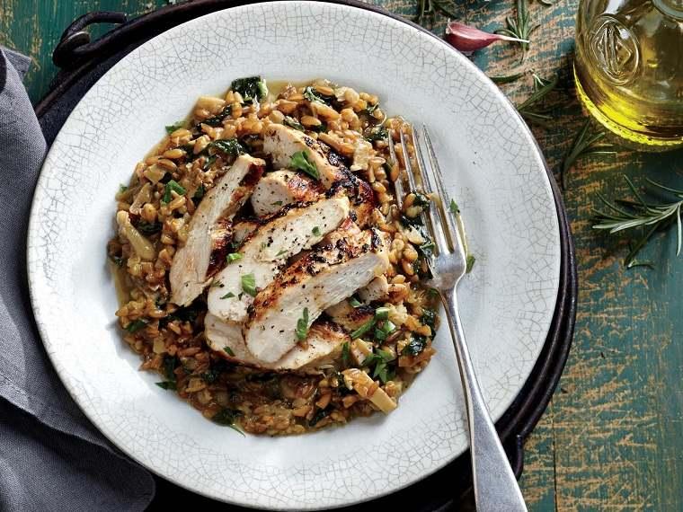 recetas saludables bajar de peso-arroz-pollo