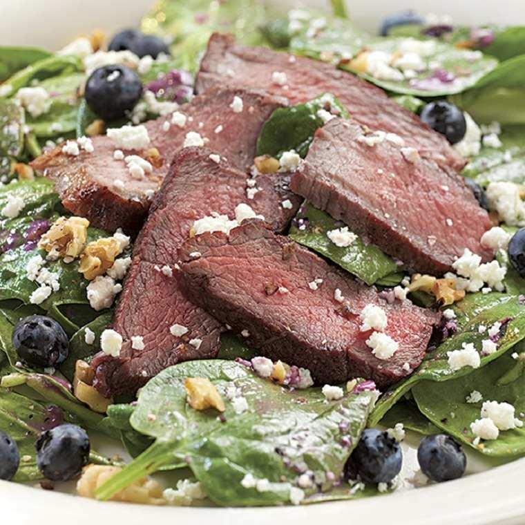 recetas saludables bajar de peso ensalda-espinacas-filete-arandanos
