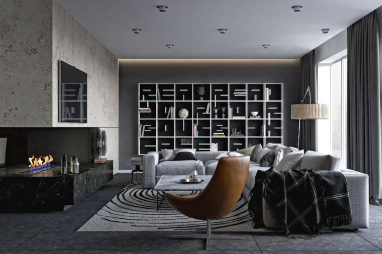 salones de diseño-belleza-uso-colores-oscuros