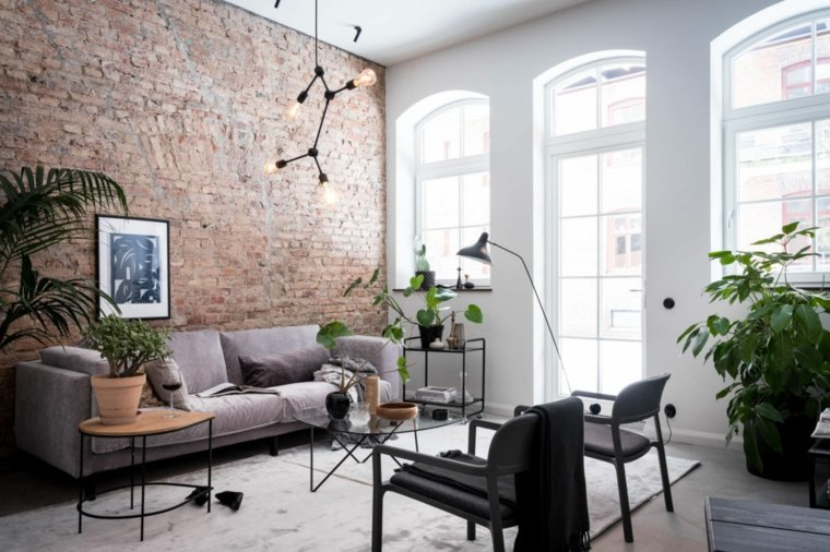 salon-pequeno-muebles-gris-negro-combinacion