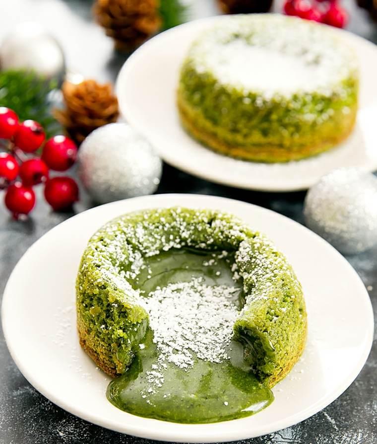 pasteles de té verde