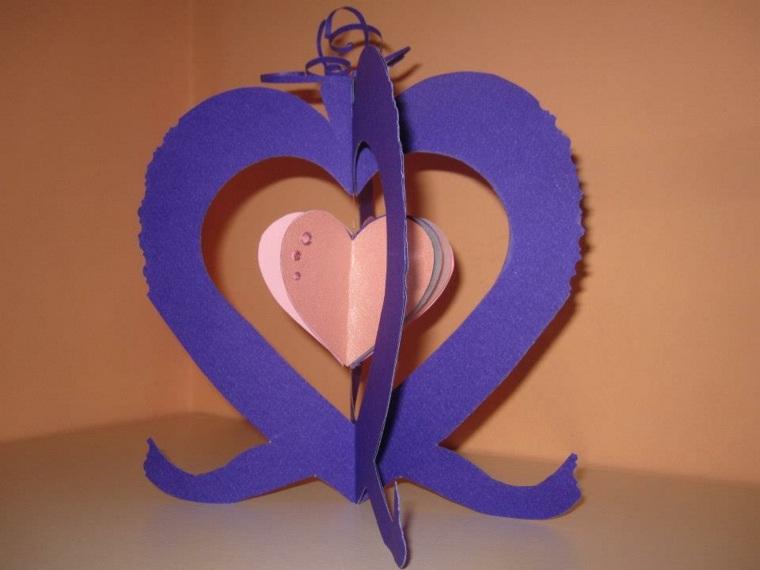 tarjetas de amor 3d-corazones