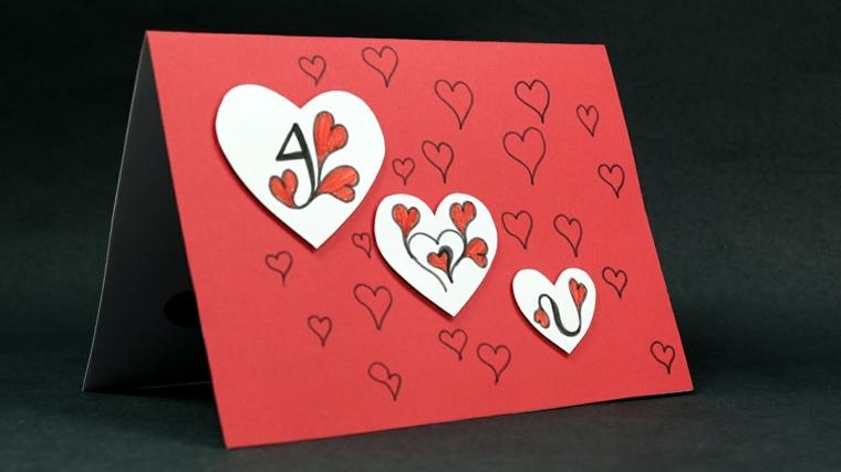 tarjetas de amor corazones-dibujados