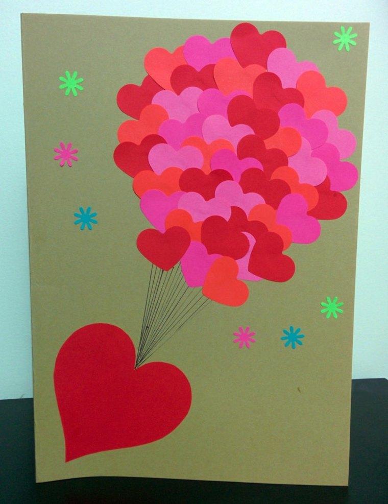 tarjetas de amor corazones-pegados