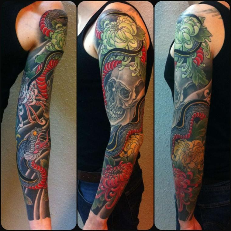 tatuaje-calavera-y-serpiente