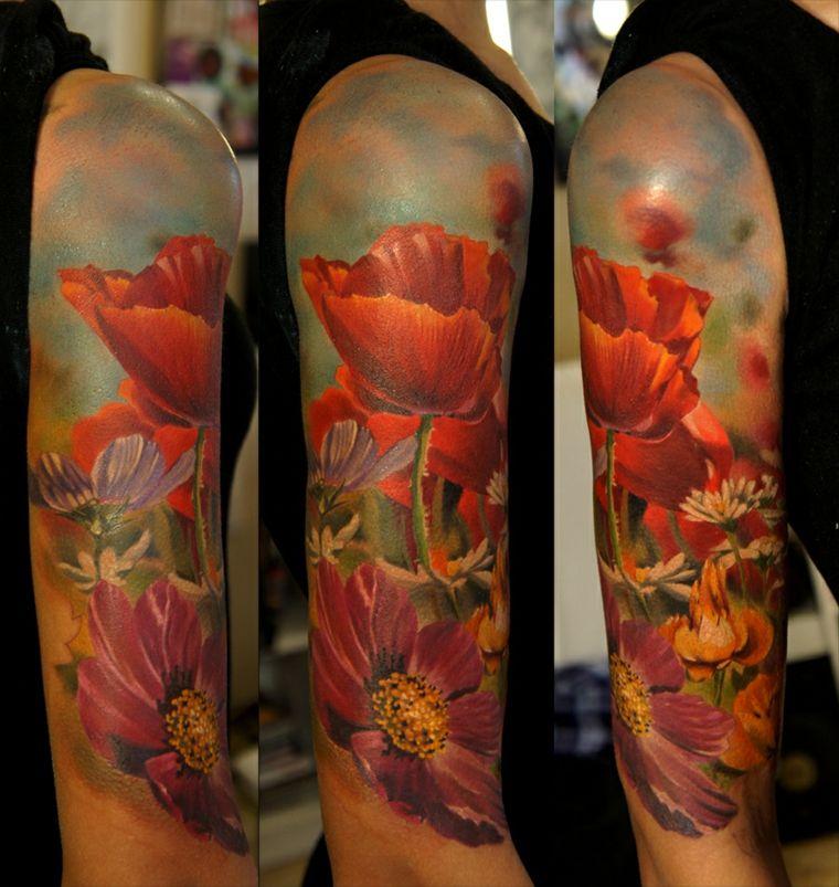 tatuaje-flores-salvajes