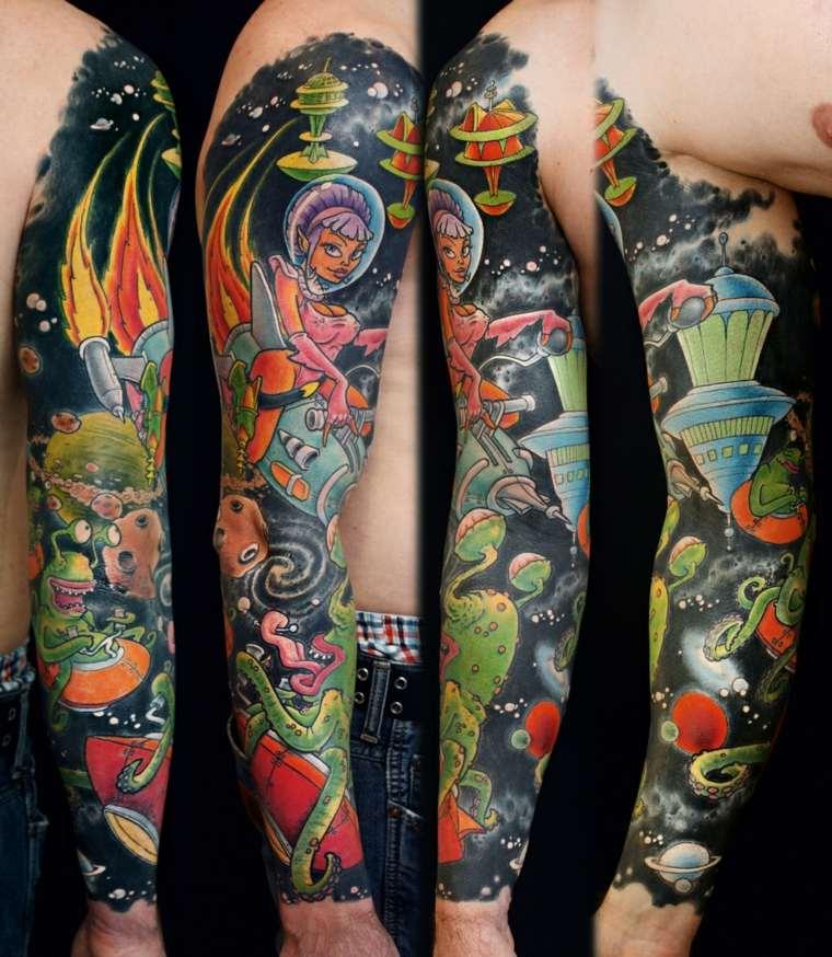 tatuajes de mangas ciencia-ficcion