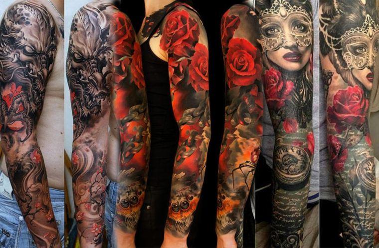 tatuajes de mangas diferentes