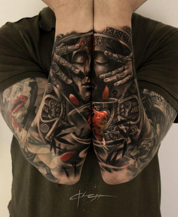 tatuajes de mangas doble
