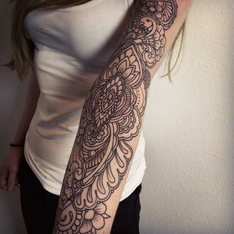 tatuajes de mangas en negro