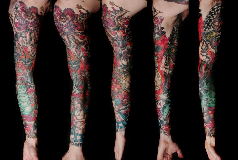 tatuajes de mangas entero