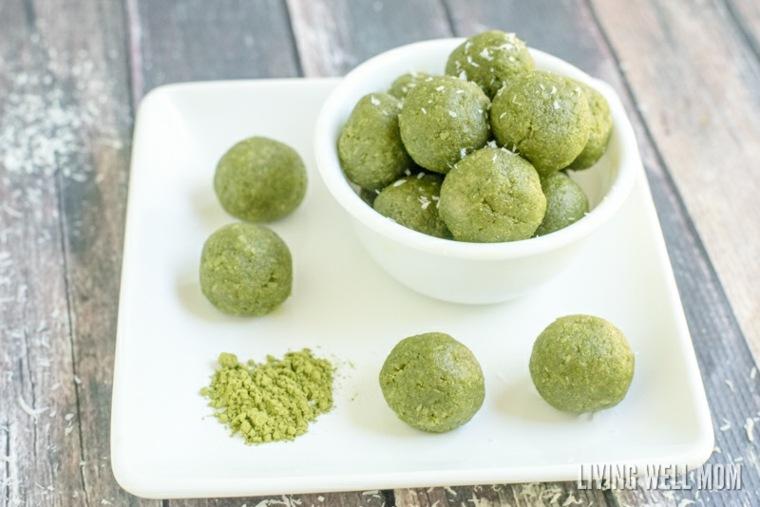 dulces de té verde