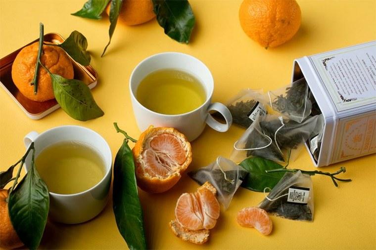 té verde y-mandarinas