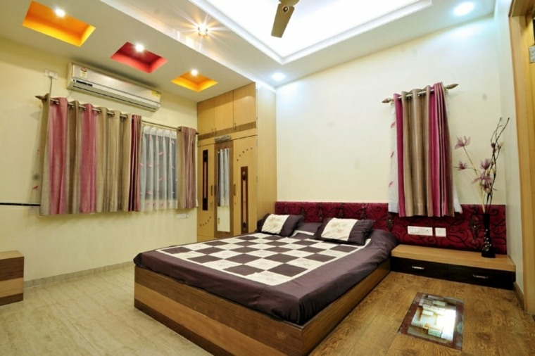 diseño de techo falso para dormitorio