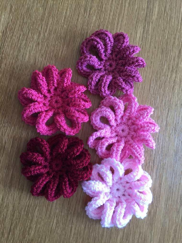 Flores de ganchillo bonitas