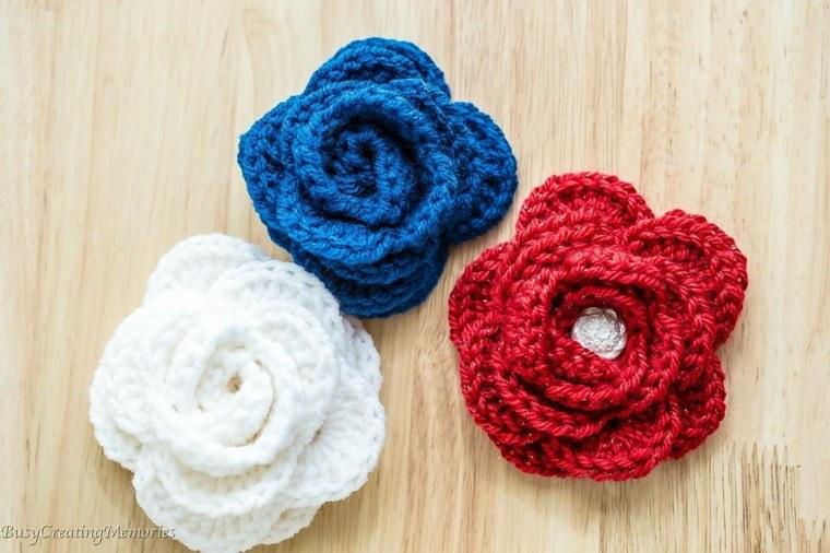 estupendas Flores de ganchillo