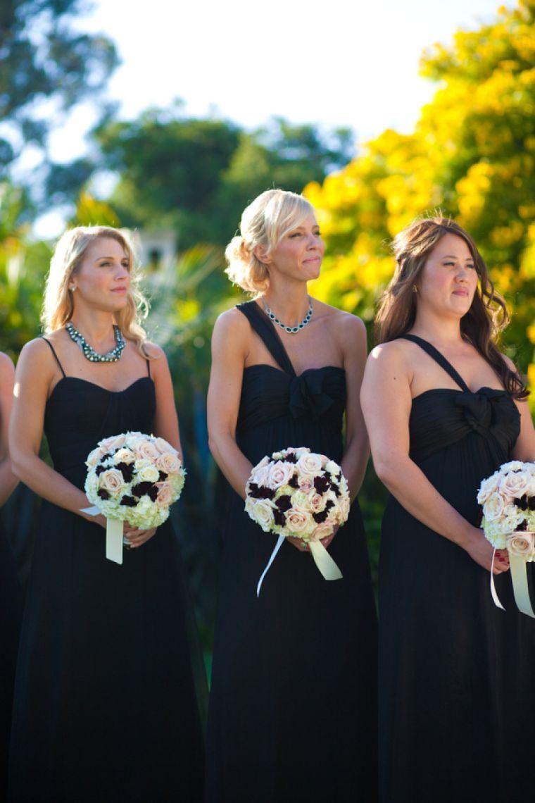 vestidos-dama-honor-negros-modernos-largos-legantes