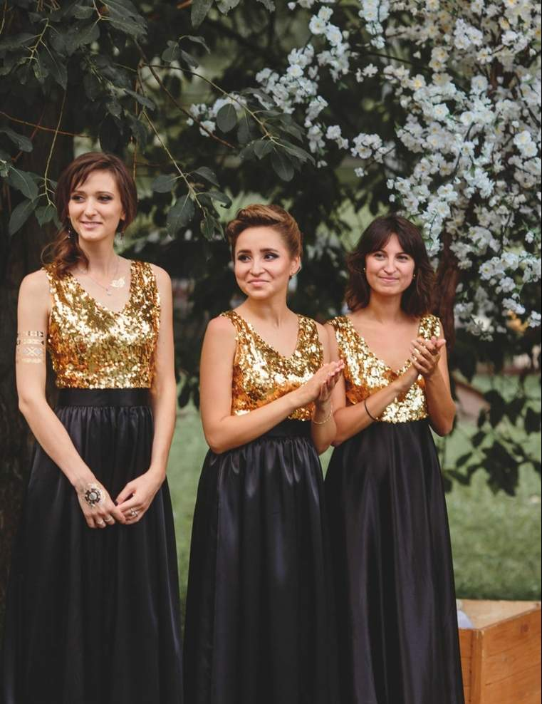 vestidos-damas-honor-consejos-ideas-color-negro-dorado