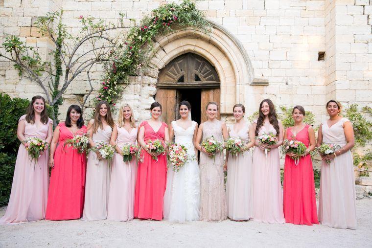 vestidos-de-dama-de-honor-modelos-tonalidades-color-rosa