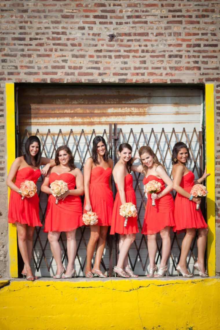 vestidos-de-dama-de-honor-rojos