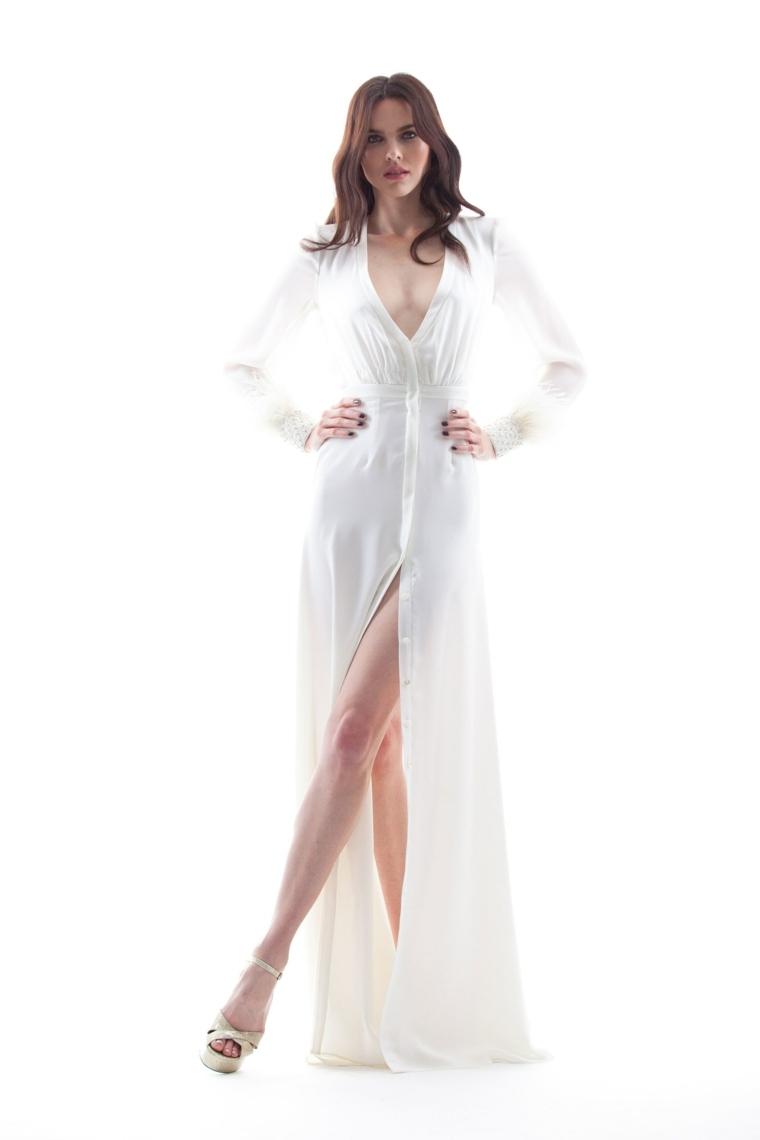 vestidos-novia-2018-escote-v-Houghton primavera