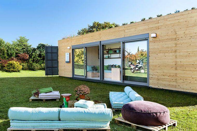 vivienda modular jardin