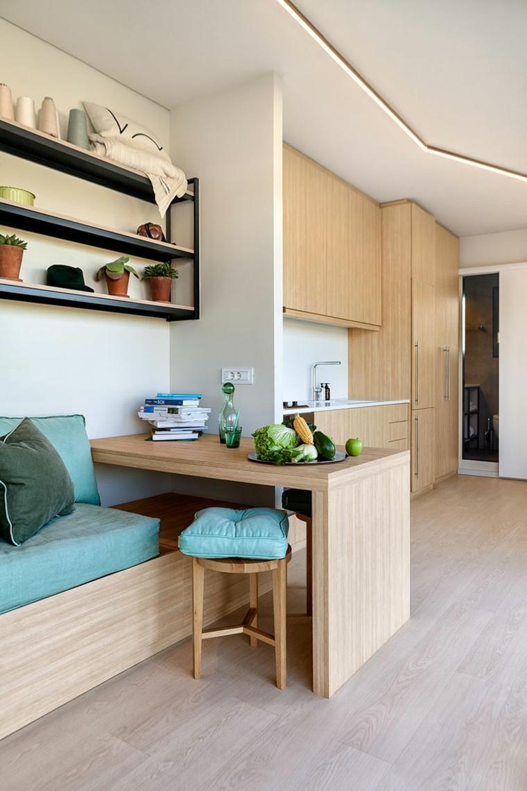 vivienda modular sala-de-estar