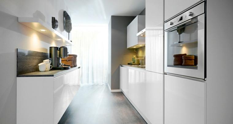 originales diseños de cocinas alargadas