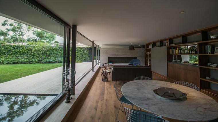 La casa se desarrolla en tres niveles