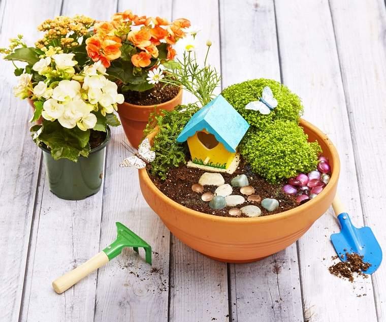 actividades recreativas para niños mini-jardin