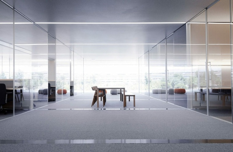 Las vistas y el diseño de la oficina son sorprendentemente minimalistas