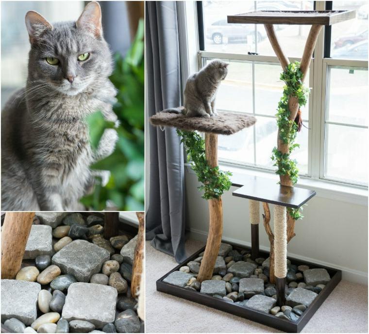 Arbol Para Gatos Y Otros Muebles Con Rascadores Para Crear