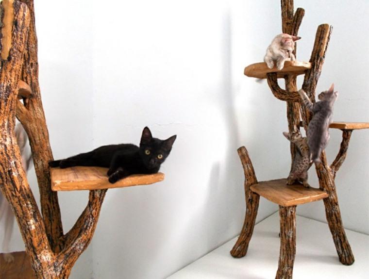 arbol rascador gato-casero