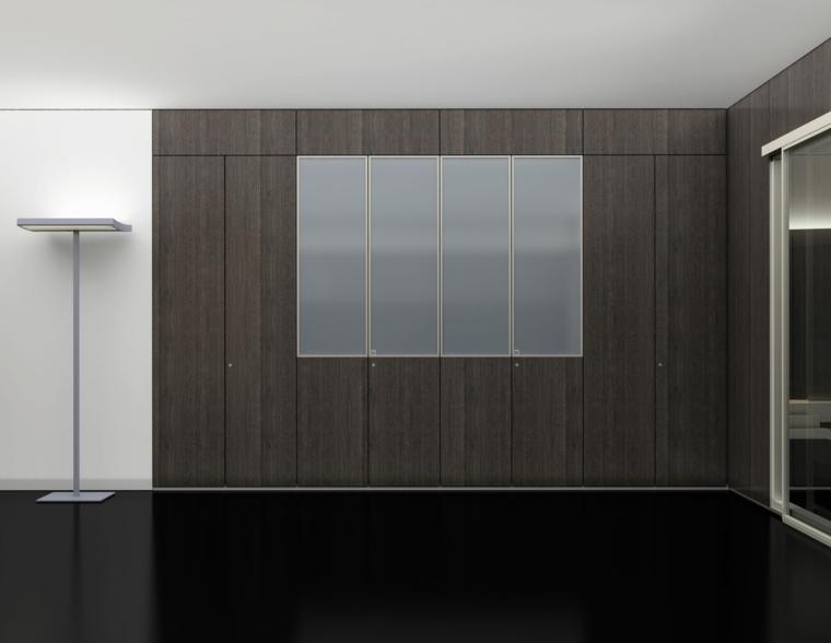 armario-moderno-puertas-madera-cristal=estilo