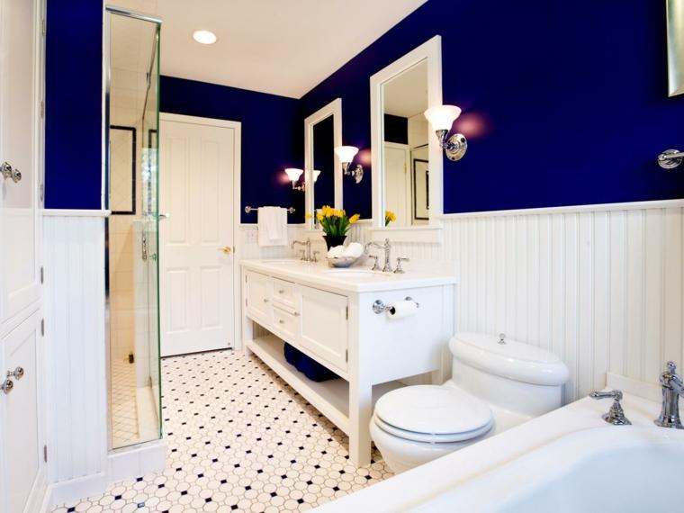 cuarto de baño retro