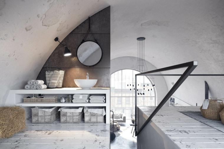 baño-rustico-industrial