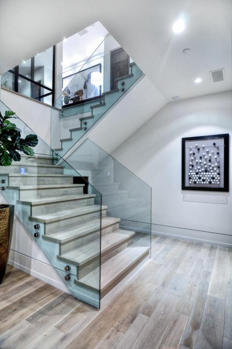 Pasamanos para escaleras de vidrio