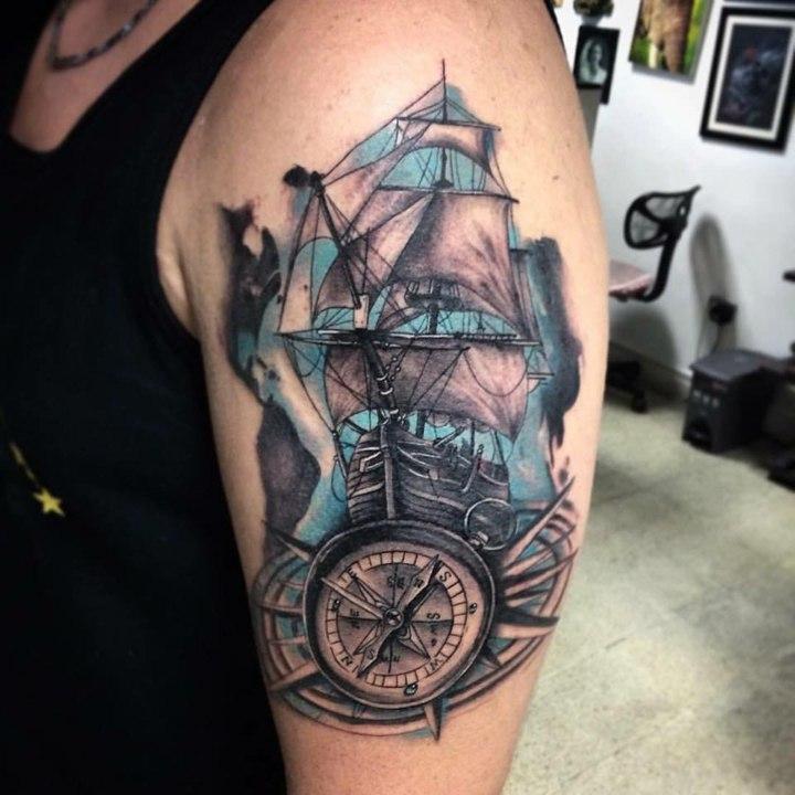 barco-fondo-azul-madera