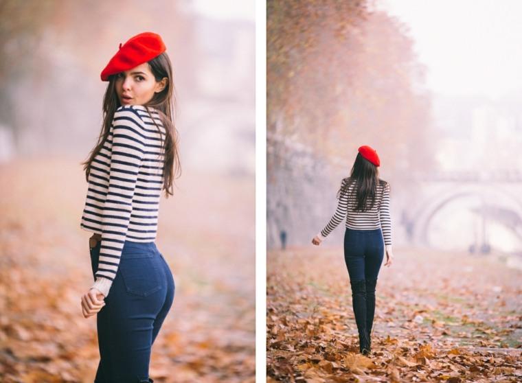 boina roja-modelo