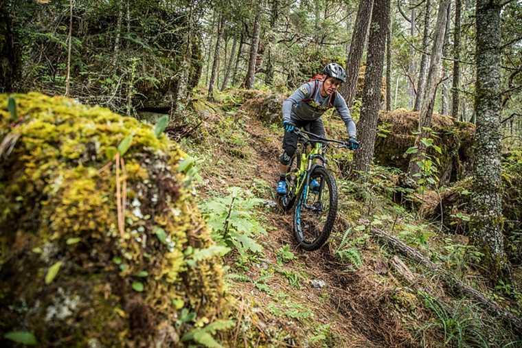 senderos para bicis de montaña